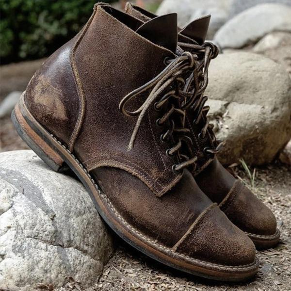 Big Size Leather Men Boots