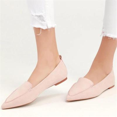 Simple And Versatile Pointed Flat Shoes