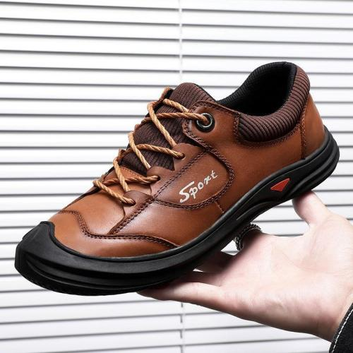 Casual Men's Outdoor Lace-up Flats Soft Sole Fashion Shoes