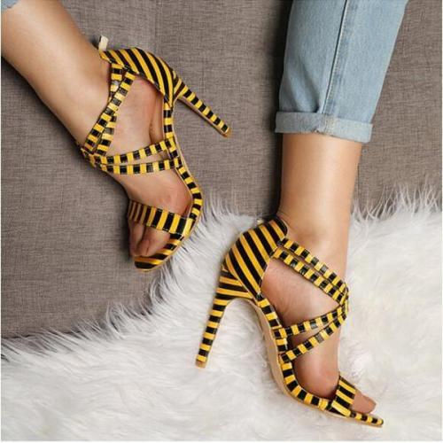 Stiletto High Heeled Peep Toe Date Platform Sandals