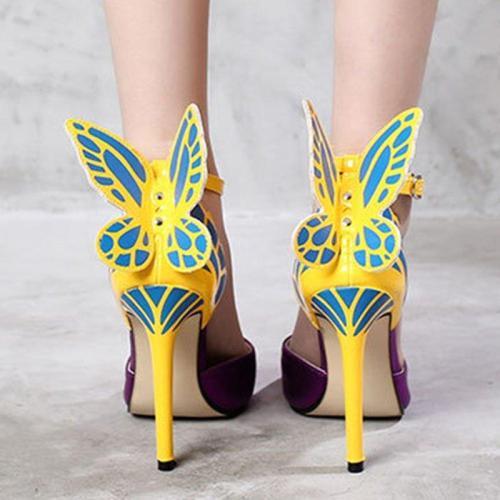 Date Butterfly Split Joint Stiletto Heel Elegant Pumps