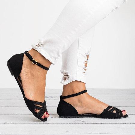 Women Buckle Strap Peep Toe Flat Sandals