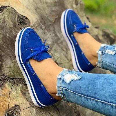 Women Faux Suede Casual Comfy Sneaker Shoes