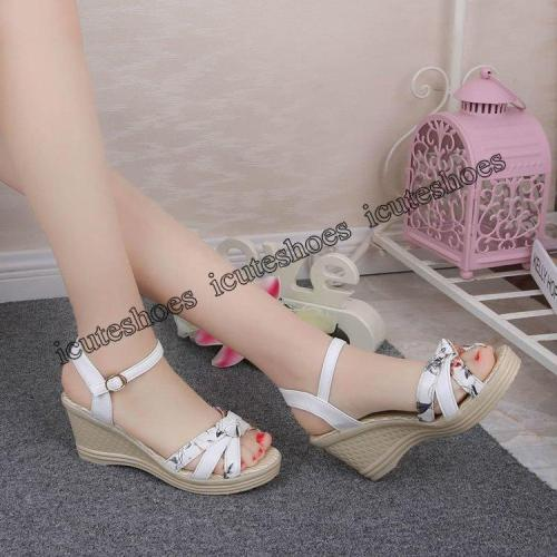 Women Sandals Summer Wedge Sandals Women Shoes Bohemian Fashion buckle classic