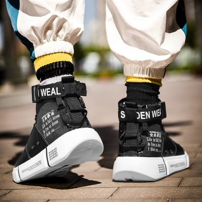 Male non-slip sports high gang shoes
