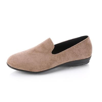 Flocking Upper Simple Casual Low Wedges Loafers