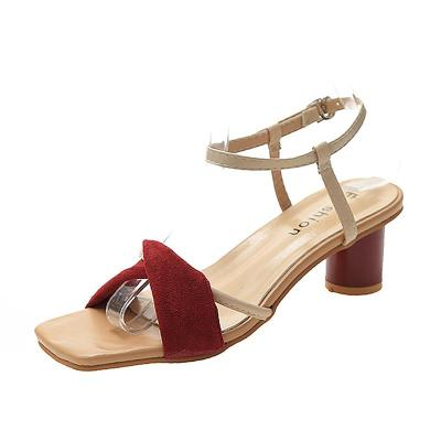 Thick Heel Sandals for Women 2020 Summer All-around Style Style Late Evening High Heels Women's Shoes
