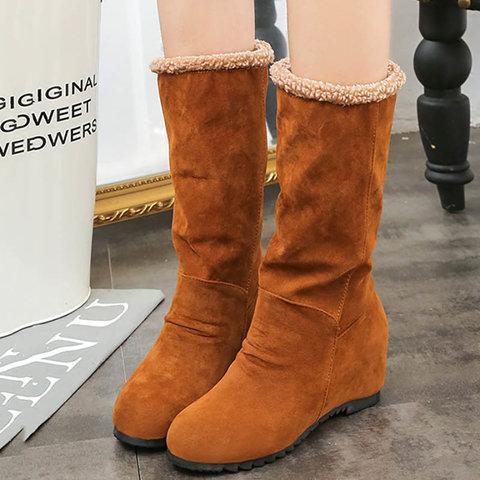 Women Snow Boots Warm Wedge Heel Boots