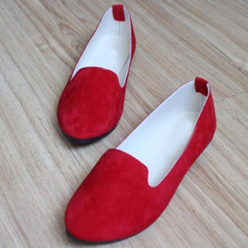 Plain  Flat  Velvet  Round Toe  Casual Flat & Loafers