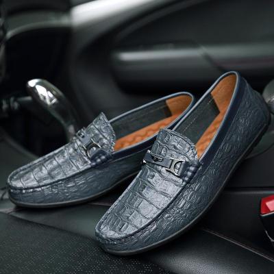 Men Crocodile Pattern Shoes
