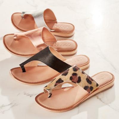 Women's Cloth Low Wedge Heel Flip-flops
