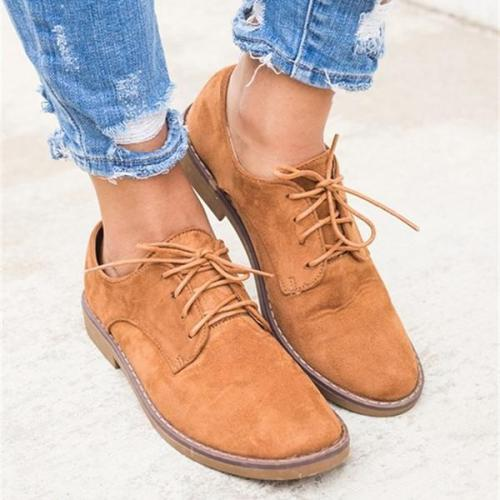 All Seasons Trendy Comfort Oxford Shoes Lace-up Daily Faux Suede Shoes