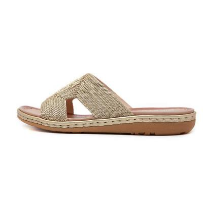 Bohemian Eembroidery Comfortable Large Size Beach Slippers