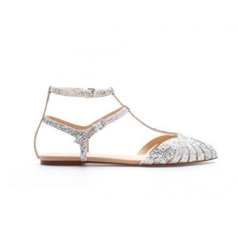 Women Shiny Gladiator Sandals Flat Heel Shoes