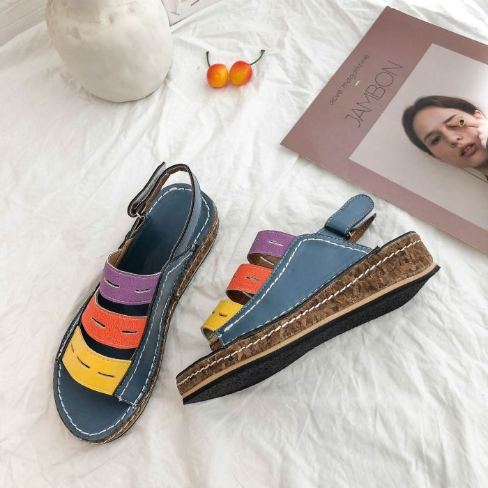 Summer New Women's Shoes The Round Head Large Size Fashion Sandals