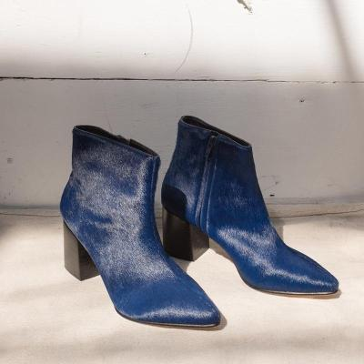 Fashion high heel pointed low boots