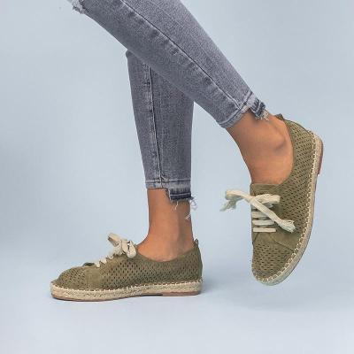 Women Faux Leather Casual Shoes Comfy Espadrille Sneaker