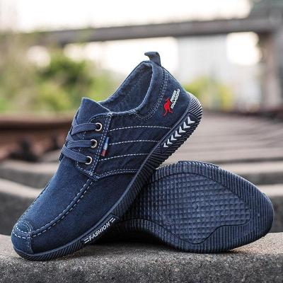 Men Pure Color Canvas Non Slip Soft Casual Shoes