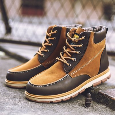 Large size casual wear Martin boots leather