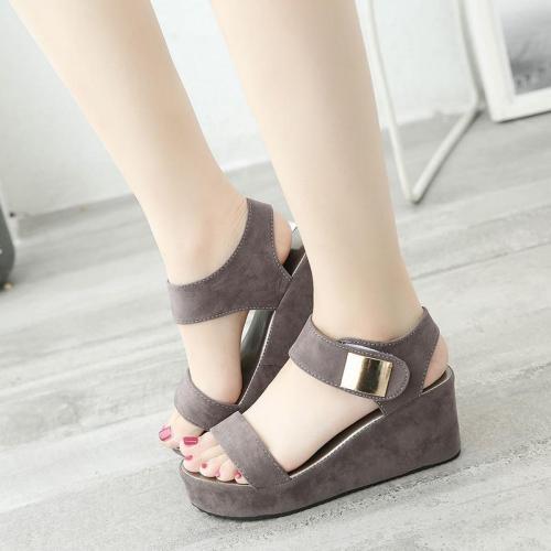 summer women's sandals platform high heel and wedge