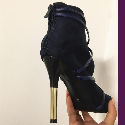 Classy Stiletto High Heels Peep Toe Designer Pumps