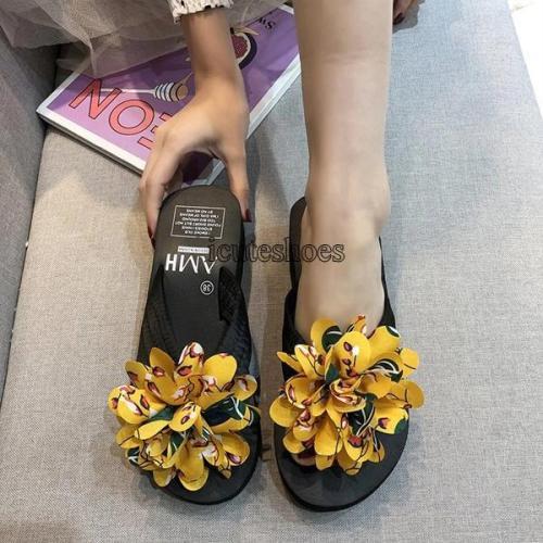 Women's Sandals New Women's Summer Wear Fashion Slippers Flower Shoes