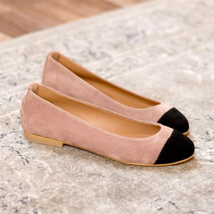 Women's Color Stitching Casual   Flat Shoes