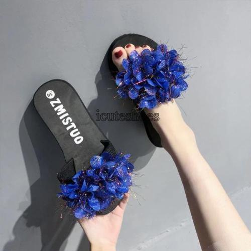 Women's Sandals New Women's Summer Wear Fashion Slippers Flower Women's Shoes