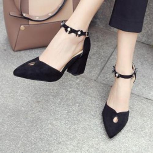 Sweet Adjustable Buckle Heels