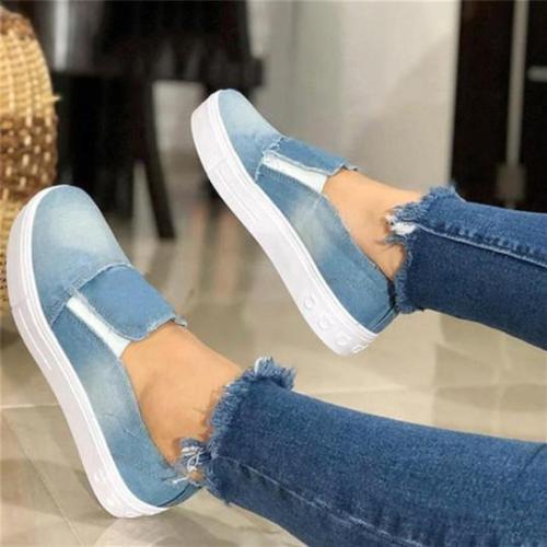 Women's Fashion Casual Canvas Plain Sneakers