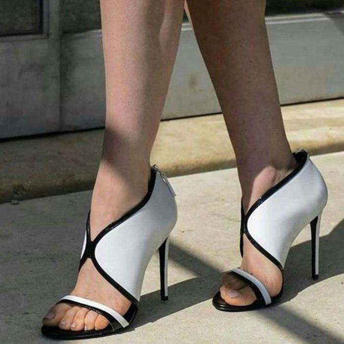Temperament Fashion Fish Matching Stiletto Super High Heel Sexy Sandals