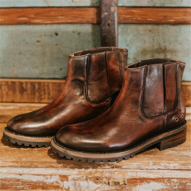 Men's   Comfortable Square With Low Boots