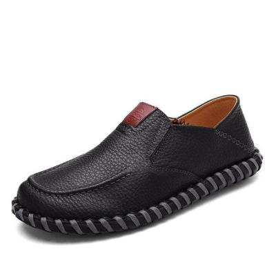 Men's Stitching Soft Sole Flat Shoes Slip On Casual Driving Loafers