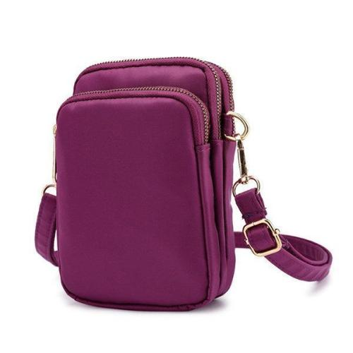Nylon Waterproof Phone Bag Waist Purse Crossbody Bag