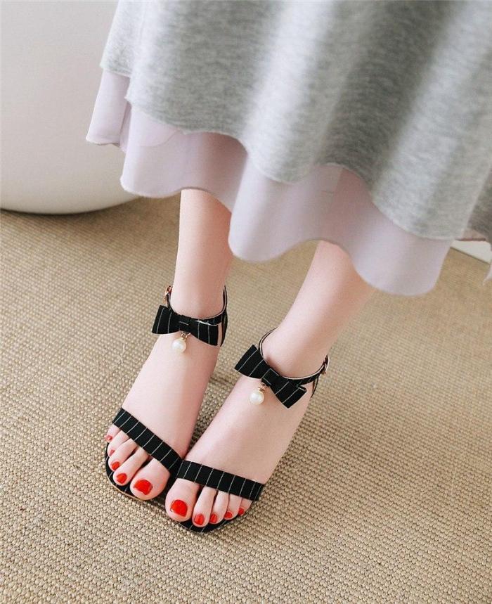 Women Sandals Buckle Square High Heels Elegant Party Wedding Shoes