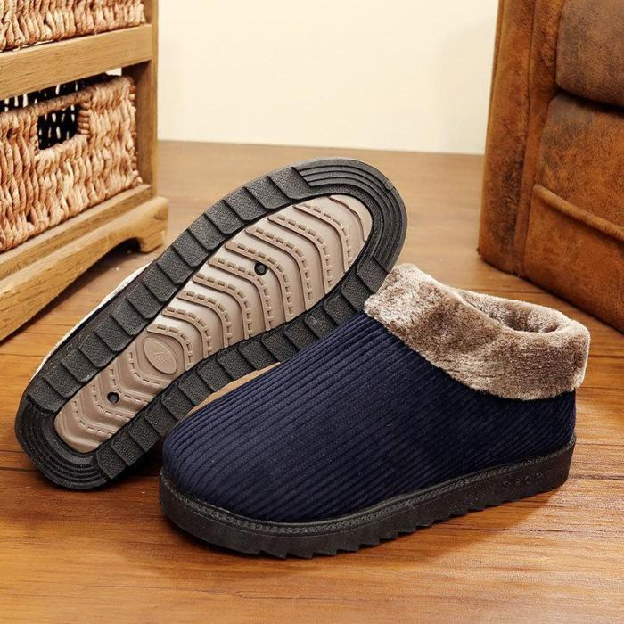Warm Beef Tendon Bottom Home Cotton Slippers Male