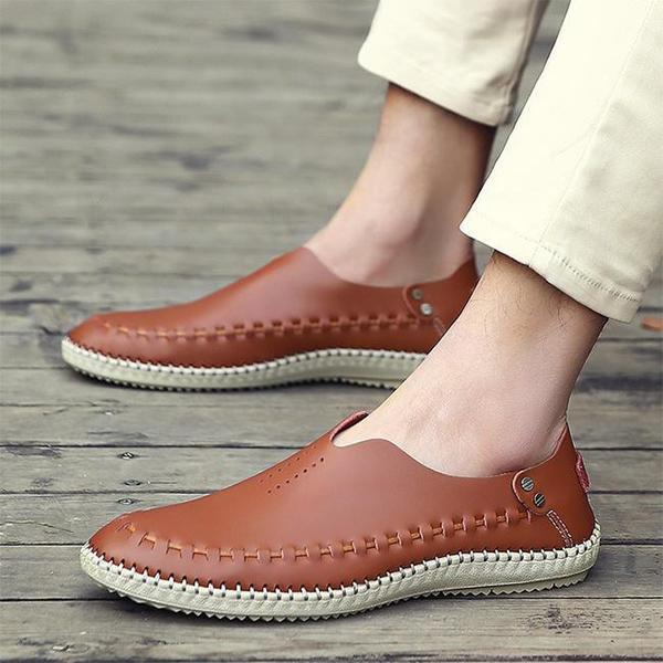 Mens Slip-on Moccasins Casual Driving Shoes