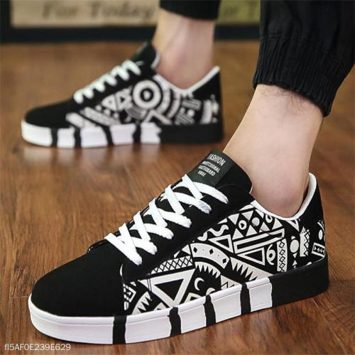 Fashion Youth Casual Sport Scrawl Shoelace Men Shoes