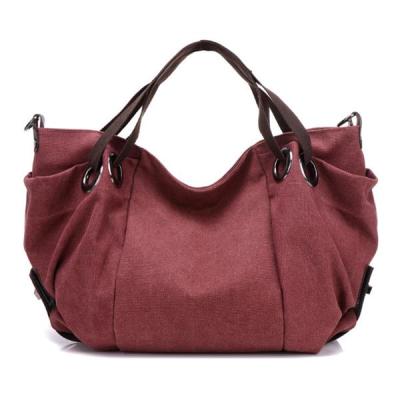 Women Vintage Canvas Tote Bag Large Capacity Handbag
