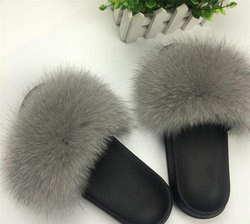 Fluffy Slippers Women's Fur Slippers Winter Warm Slippers