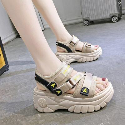 Sneakers Sandals Peep-toe Wedge Platform Shoes Woman high Heels Thick