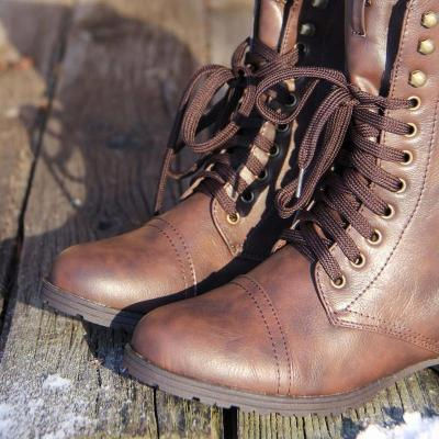 Women Winter Boots Comfort Sweater Lace-up Shoes