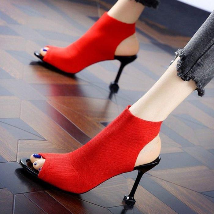 Stiletto Heel Peep Toe Heels