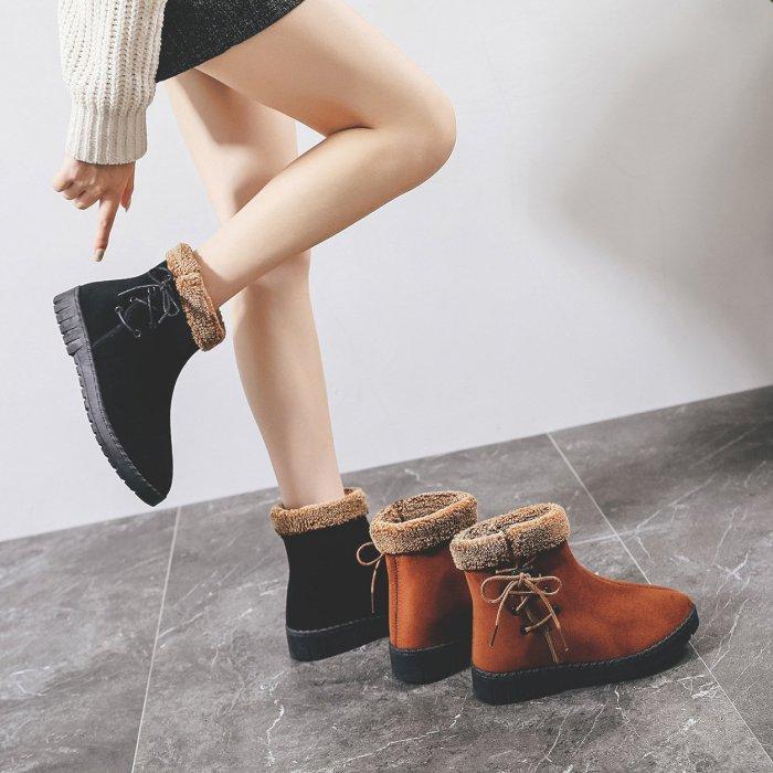 Shoes Woman Snow Boos Fmale Causal Velvet Fur Ankle Boots