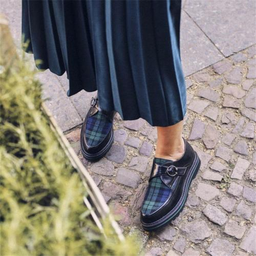 Spring Comfort Platform Plaid Shoes