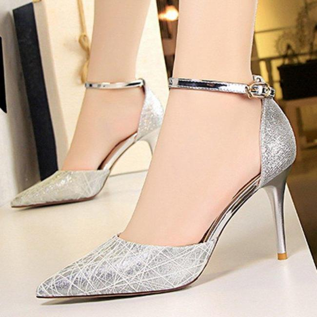Glitter Party & Evening High Heel Pointed Toe Shoes