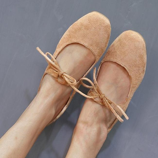 Plain  Flat  Velvet  Round Toe  Casual Date Flat & Loafers