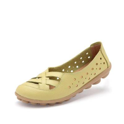 Women's Hollow-out Dress Leather Non Slip Flats