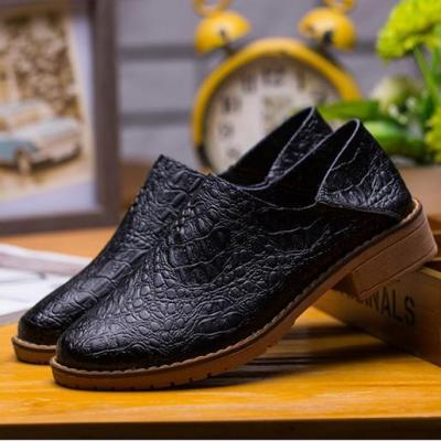 Artificial Leather Non-slip Round Toe Slip on Comfortable Flat Loafers Low Cut