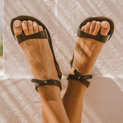 Thong Flip-Flop Flat Simple Buckle Casual Sandals